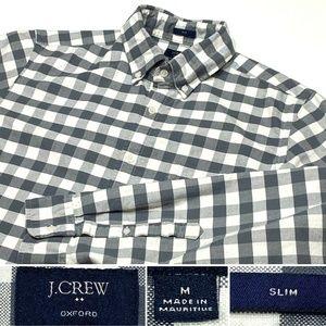 J Crew Oxford  Sz M Long Sleeve Button Down Shirt